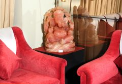 A Mesmerising Statue of Lord Ganesh very skilfully handcrafted in Rose Quartz