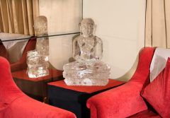 One of the world's finest statues of Lord Mahavir handcrafted from a single crystal of Himalayan Quartz